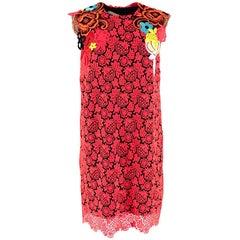 Christopher Kane Neon Lace-appliqué Mini Dress - Size US 8
