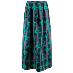 Christopher Kane Silk Floral Pleated Maxi Skirt M 12UK
