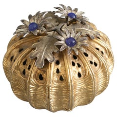 Christopher Lawrence Silver Gilt Floral Pomander, London, 1982