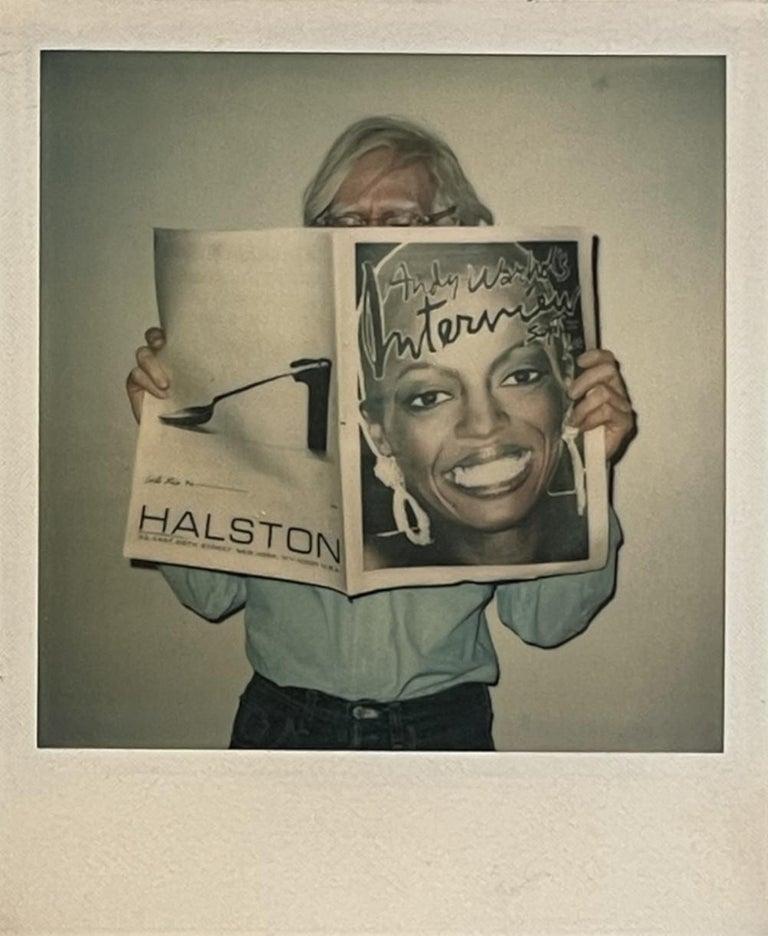 Andy Warhol - Filmmaker, Artist, Publisher, Philosopher - Brown Portrait Photograph by Christopher Makos