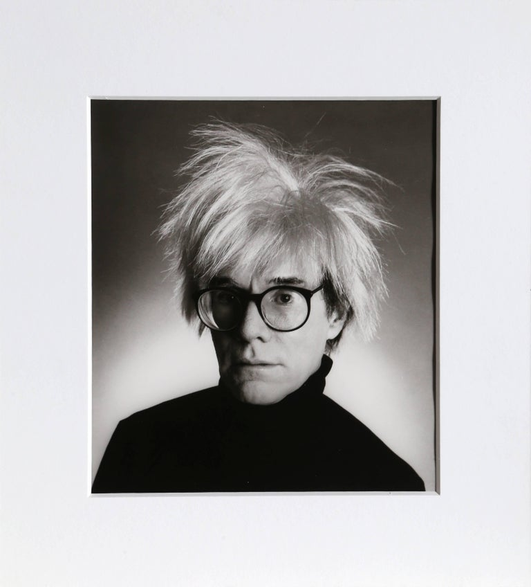 Christopher Makos Portrait Photograph - Andy Warhol with Glasses