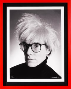 Archival Andy Warhol Photographic Portrait, Black and White, 1982/2020