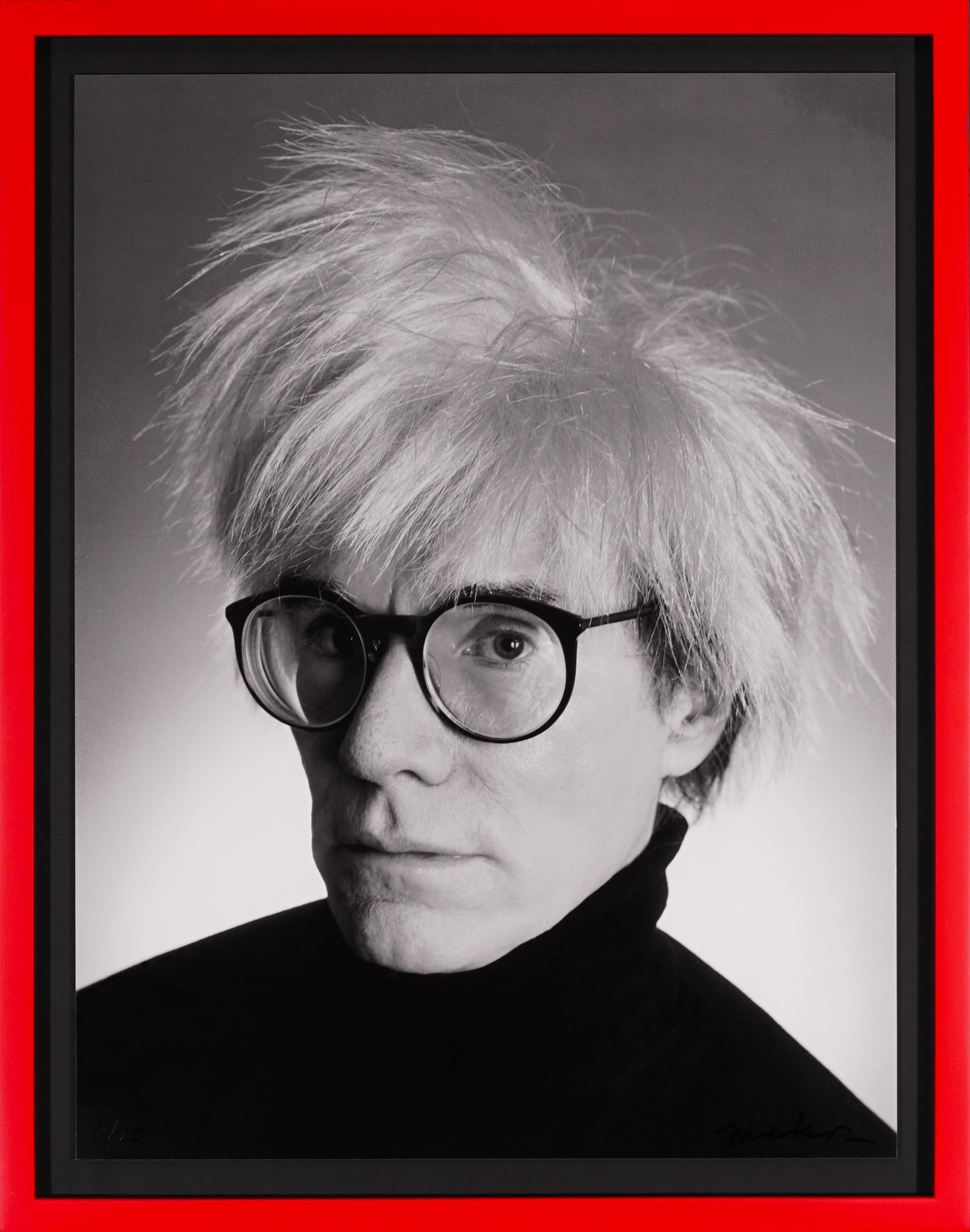 Archival 'Andy Warhol Portrait', Black and White, 1982/2020