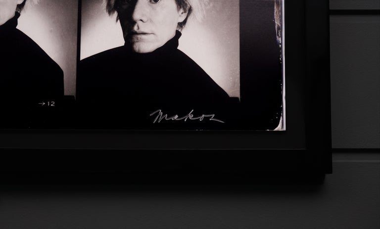 Christopher Makos, Warhol Contact Sheet, 2020 - Black Portrait Print by Christopher Makos