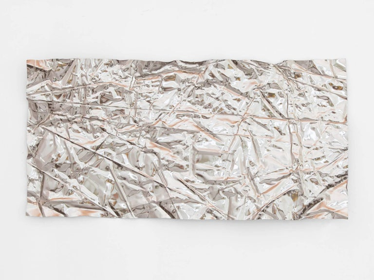 Contemporary Christopher Prinz Iridescent Wrinkled Wall Panel For Sale