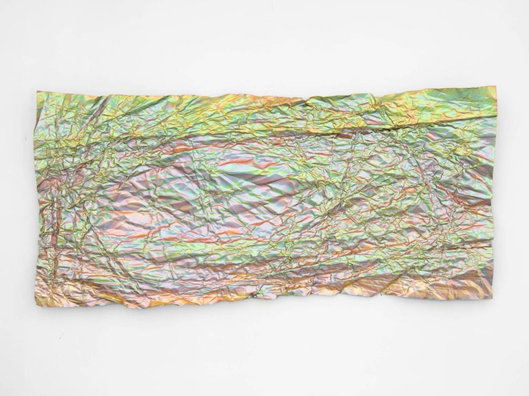 Steel Christopher Prinz Iridescent Wrinkled Wall Panel For Sale