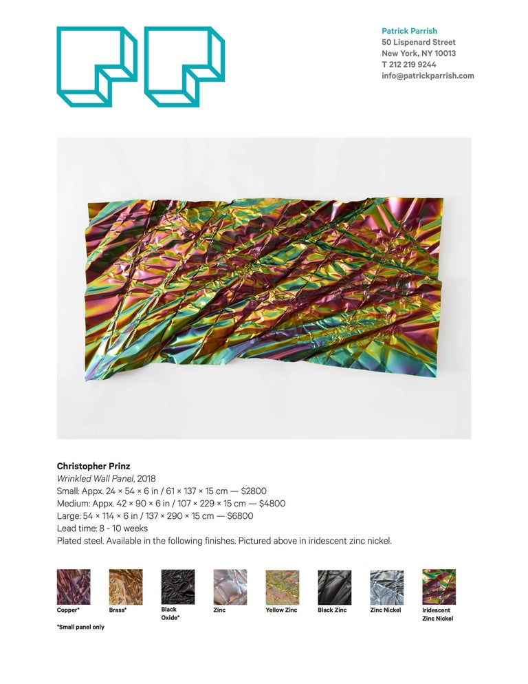 Christopher Prinz Iridescent Wrinkled Wall Panel For Sale 1
