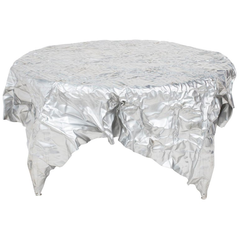 Christopher Prinz Outdoor Wrinkled Coffee Table For Sale