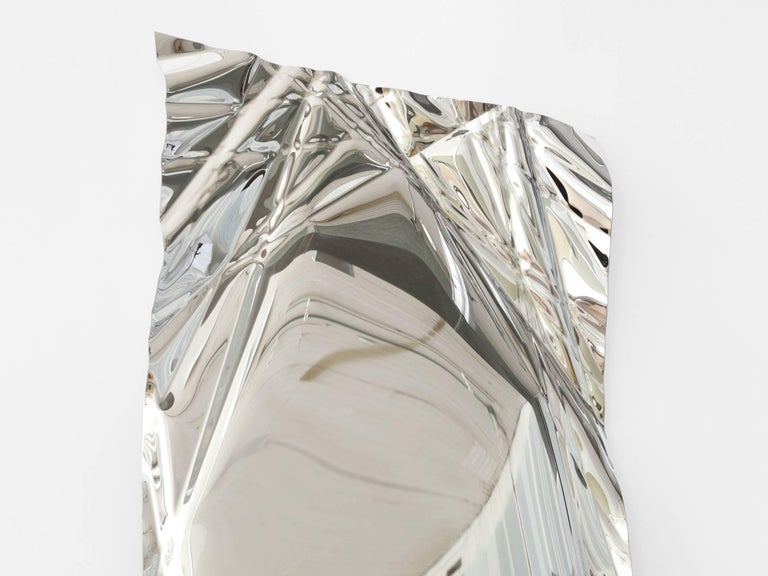 American Christopher Prinz Wrinkled Mirror For Sale