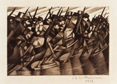 Returning to the Trenches - 20th Century, Drypoint by Christopher Nevinson