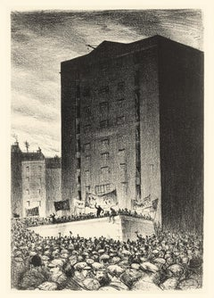 The Workers - 20th Century, Lithograph by Christopher Nevinson