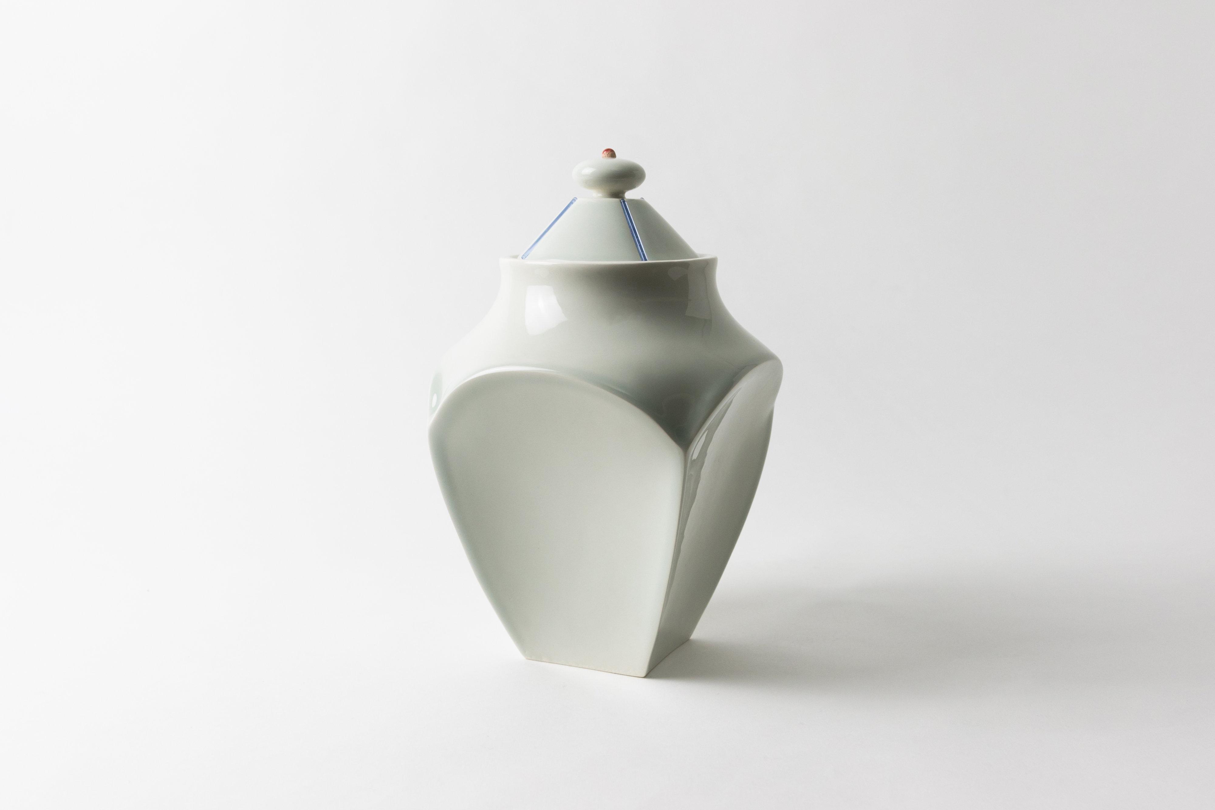 Christopher Riggio, Sweets Jar, 2020, Earthenware, Glass