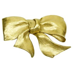 Christopher Ross Gold Bow Belt Buckle 1983