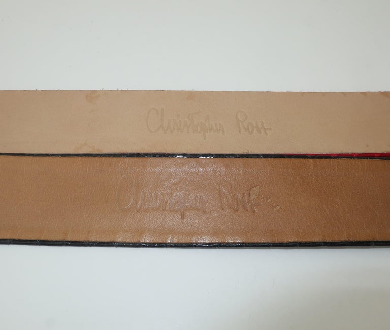 Christopher Ross Gold Eagle Buckle With Lizard Skin Belt, 1984 For Sale 6
