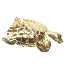 Christopher Ross Massive Huge Scale 24k Gold Plated Turtle Belt Buckle c 1980s