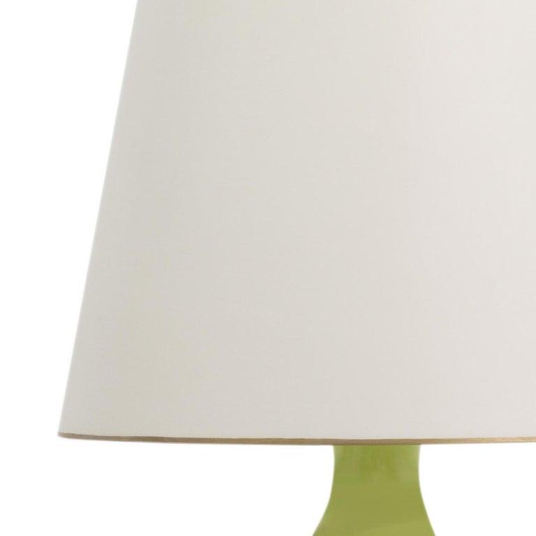 American Christopher Spitzmiller Aurora Pale Green Porcelain Table Lamp For Sale