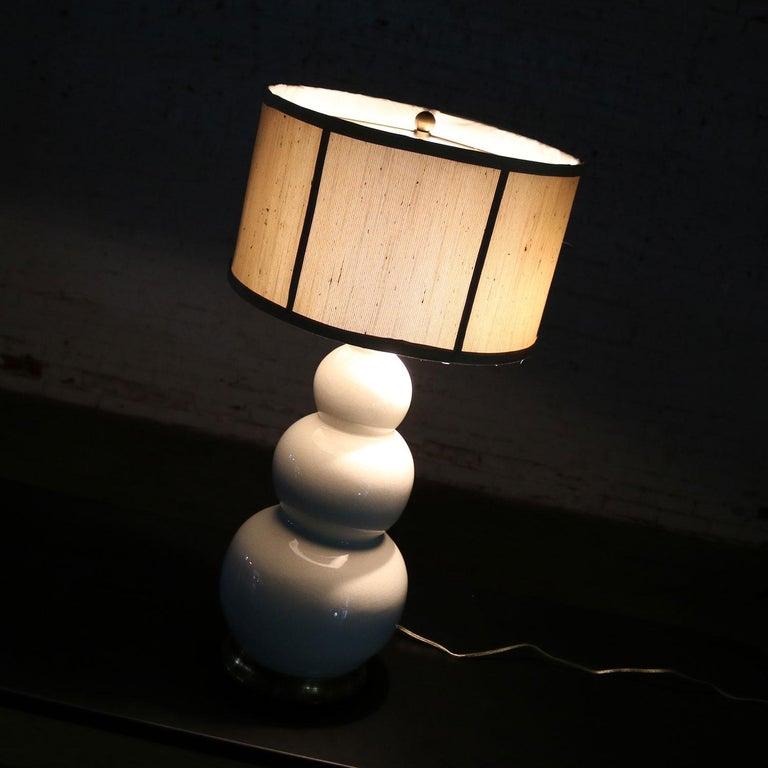 Christopher Spitzmiller Blanc De Chine Three Ball Large Ceramic Lamp For Sale 5