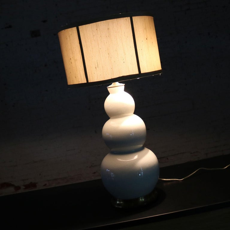 Christopher Spitzmiller Blanc De Chine Three Ball Large Ceramic Lamp For Sale 6