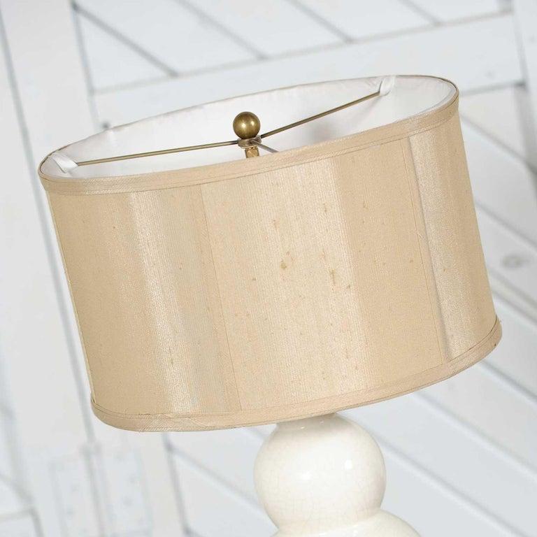 Christopher Spitzmiller Blanc De Chine Three Ball Large Ceramic Lamp For Sale 1