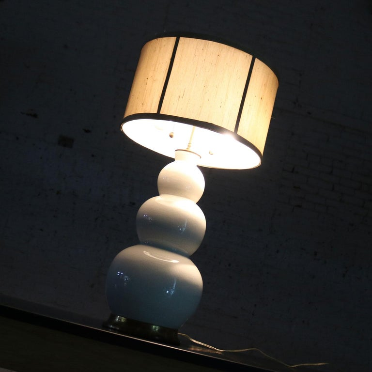 Christopher Spitzmiller Blanc De Chine Three Ball Large Ceramic Lamp For Sale 3