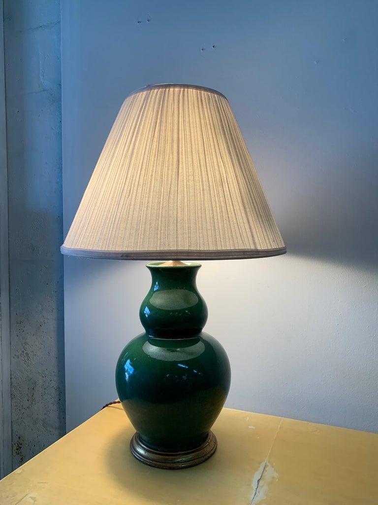 Christopher Spitzmiller Vintage Jade Glazed Green Lamp For Sale 3
