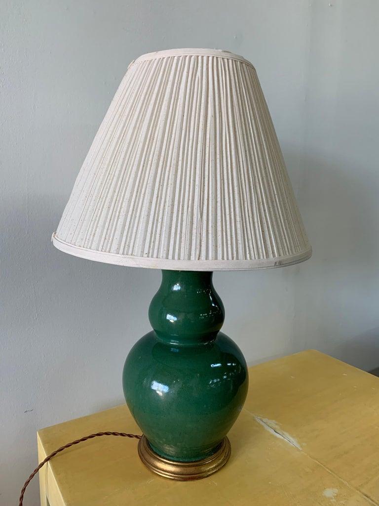 Christopher Spitzmiller Vintage Jade Glazed Green Lamp For Sale 1