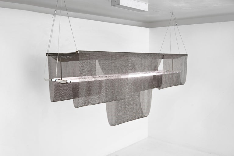 """American Christopher Stuart Ceiling Lamp Model """"Suspended Structure 1"""", USA 2019 For Sale"""