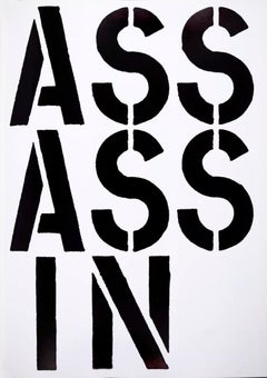"""Christopher Wool, Assassin, from """"Black Book"""", 1989"""