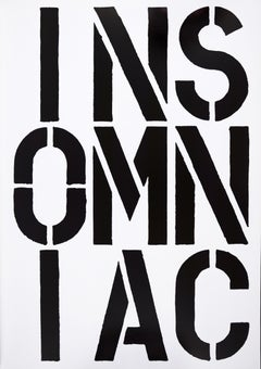 Christopher Wool, Insomniac, from Black Book