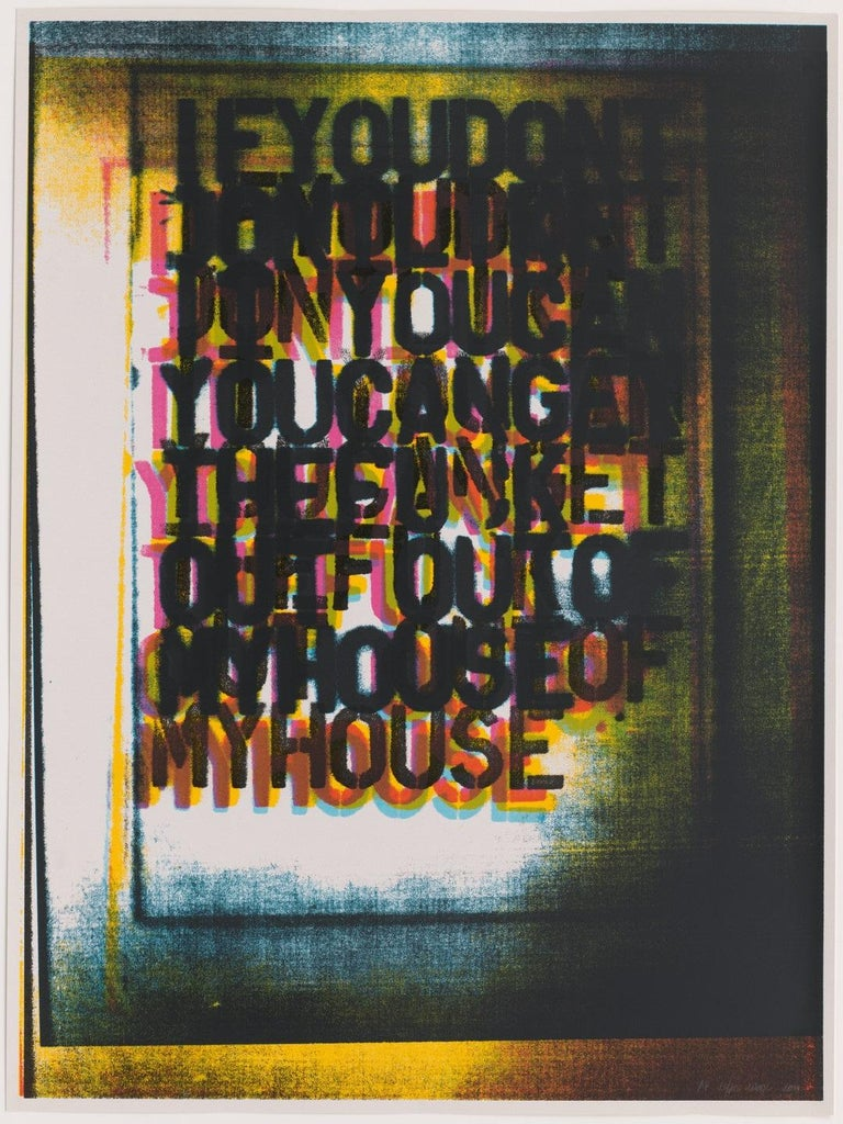 My House I, 2000 (2000) (signed) - Print by Christopher Wool