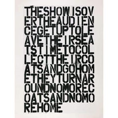 Untitled (The Show Is Over)