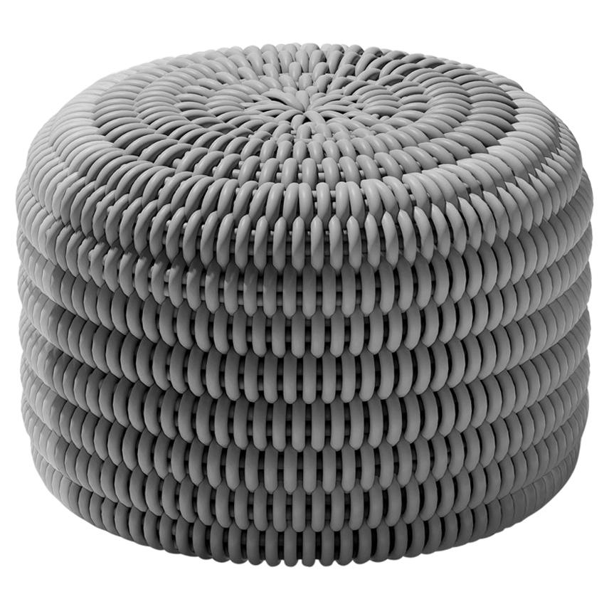 Chroma Ottoman in Soft Stone