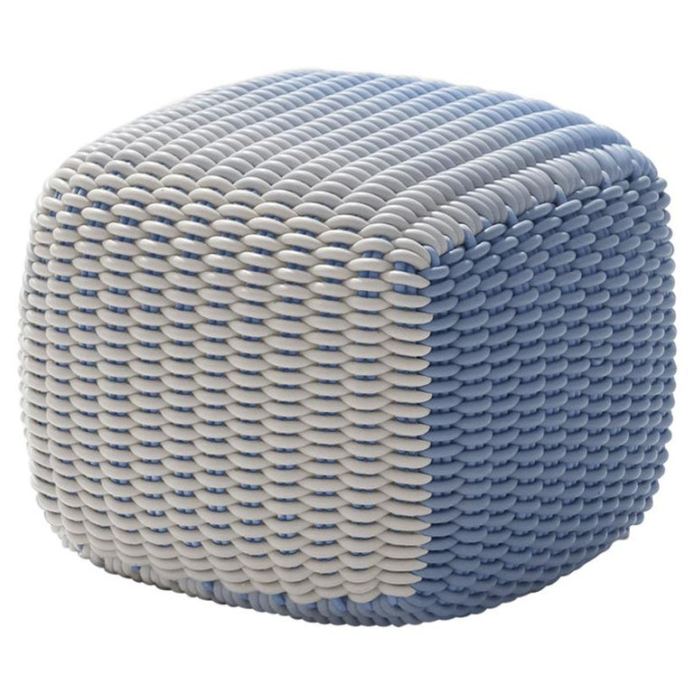 Chroma Stool in Blue Sky For Sale