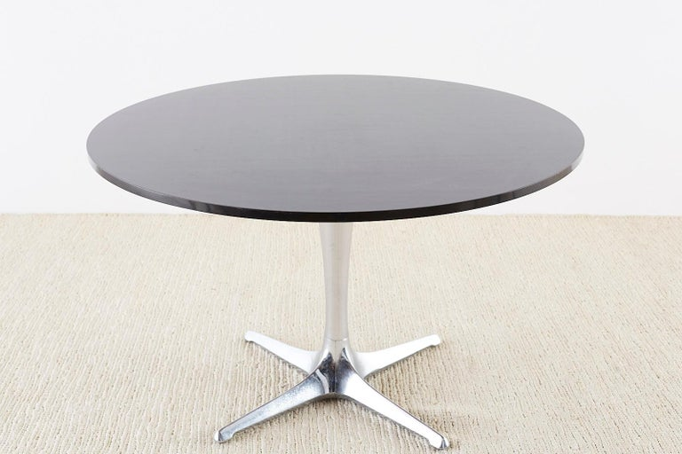 Mid-Century Modern Chromcraft Midcentury Polished Aluminum Laminate Dining Table For Sale