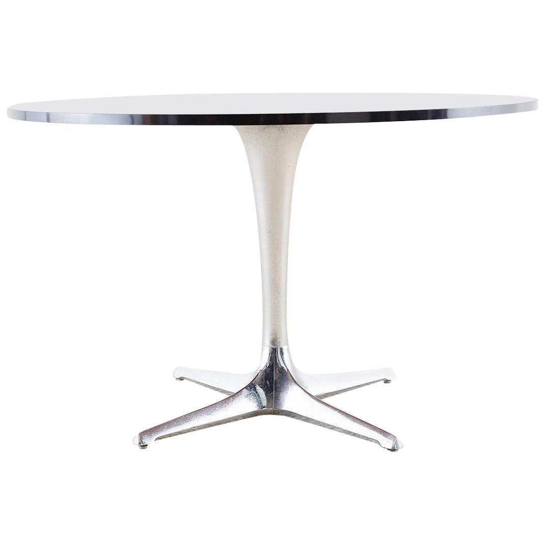Chromcraft Midcentury Polished Aluminum Laminate Dining Table