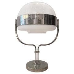 Chrome and Acrylic Heavy Table Lamp, 1970s