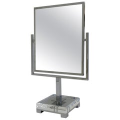 Chrome and Acrylic Vanity Mirror by Charles Hollis Jones