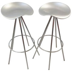 Chrome and Aluminium Knoll 'Jamaica' Bar or Kitchen Stools