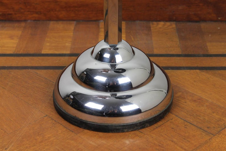 Chrome and Bakelite Ashtray Stand, Floor Ashtray 1930s by Demeyere, Belgium For Sale 1