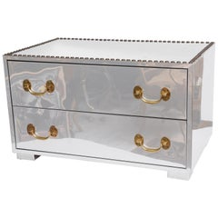 Chrome and Brass Chest
