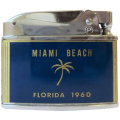 Chrome and Brass Miami Beach Lighter, 1960