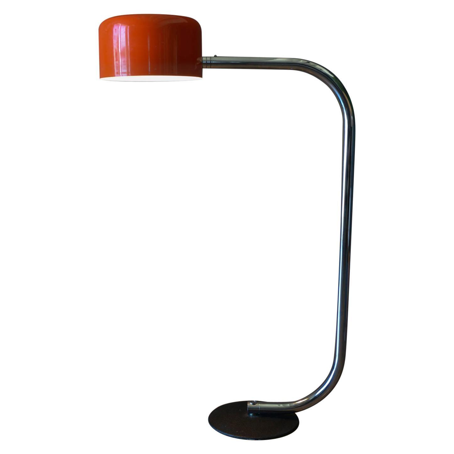 Chrome and Enameled Metal Floor lamp by Robert Sonneman, ca. 1970