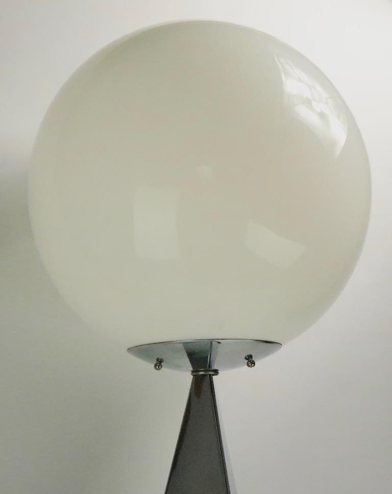 20th Century Chrome and Glass Ball Lamp by Jere For Sale