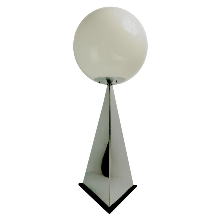 Chrome and Glass Ball Lamp by Jere For Sale