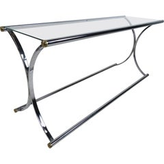 Chrome and Glass Console Table