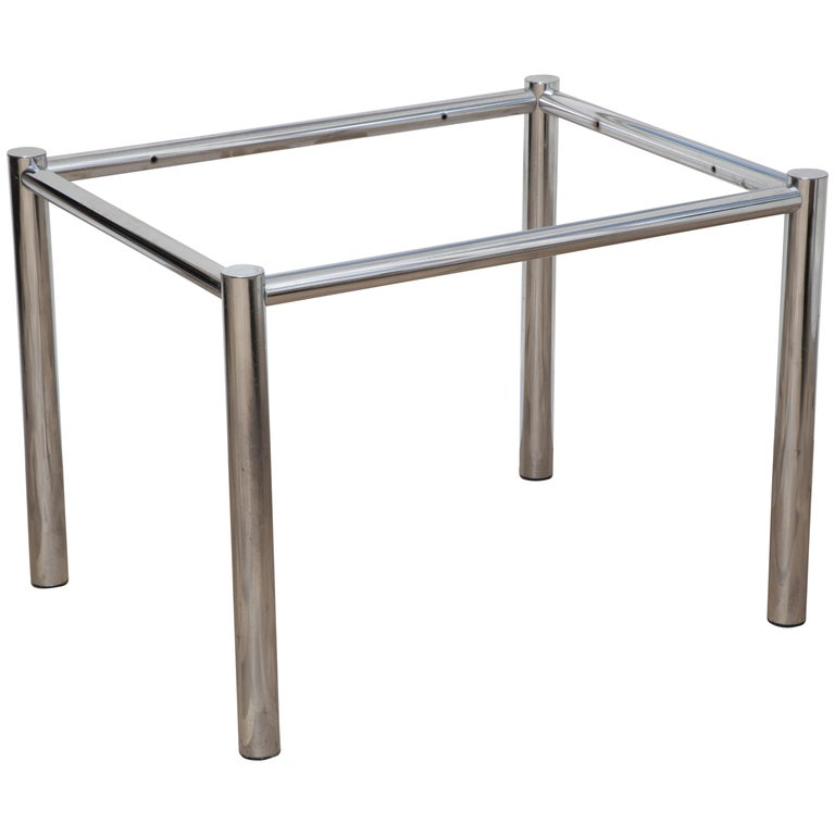 Chrome And Glass End Table For Sale At 1stdibs