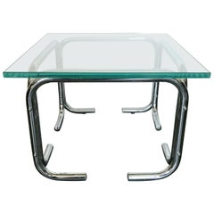 Chrome and Glass Side Table FINAL CLEARANCE SALE