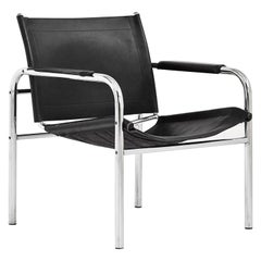 Chrome and Leather Klinte Easy Chair by Tord Björklund for IKEA