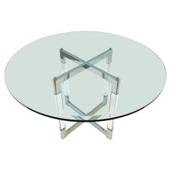 Chrome and Lucite Dining Table by Charles Hollis Jones