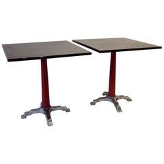 Chrome Base Art Deco Bistro Speak Easy Tables as Found Four Available